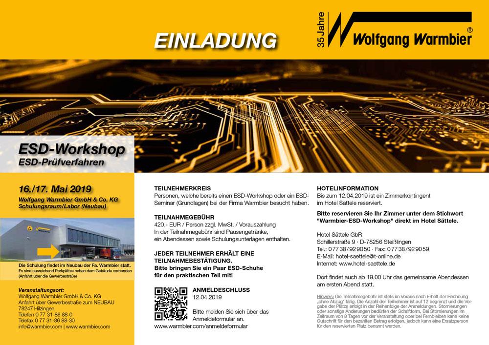 Wolfgang Warmbier: ESD-Workshop am 15./16.5.2019