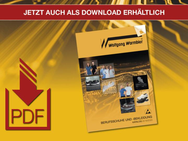 PDF-Katalog 2019/2020 Berufsschuhe und -Bekleidung – Jetzt auch als Download erhältlich