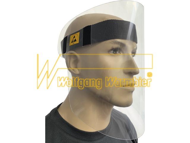 ESD-Gesichtsschutz mit Stirnband (Klettverschluß)