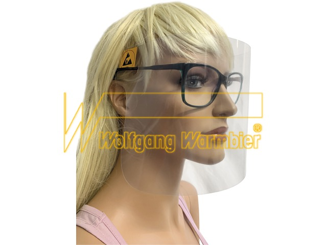 ESD face protection for glasses