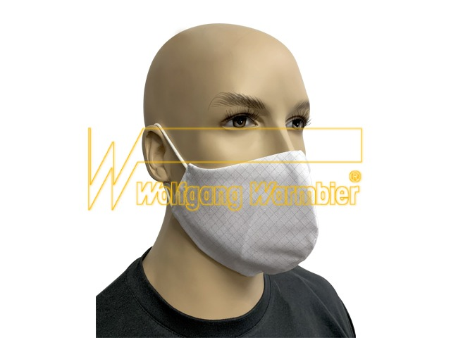 Face mask AM110 fabric, white with round ear straps