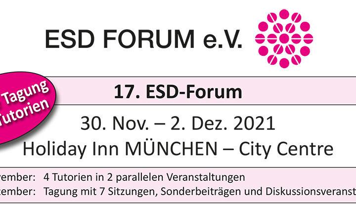 17th ESD-FORUM (external) 30.11 – 02.12.2021